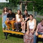 Beim ersten Workshop Ende Juni (v.li.n.re.): Anna Maria Sturm, Johannes Guder, Clarissa Legl, Sophia Löfflier, Anne Madlene Schleicher, Simon Pracht